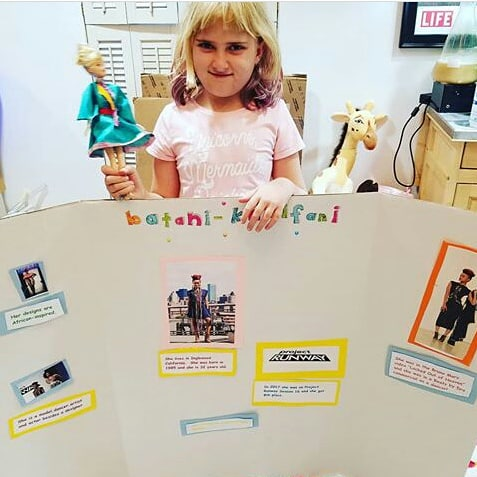 Chloe and her project based on me.